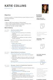 Resume For Internship Awesome Communications Intern Resume Samples VisualCV Resume Samples Database
