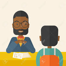 A Smiling Black Human Resource Manager Interviewed The Applicant