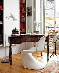 home office decor dont worry about mixing modern and vintage pieces this recycled desk and modern recycled chic vintage home office desk cute