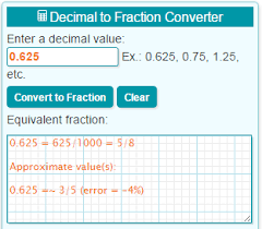 Fractions From Least To Greatest Chart Decimal To Fraction Calculator