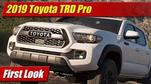 First Look: 2019 Toyota TRD Pro Tacoma, Tundra and 4Runner ...