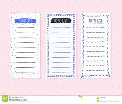 Cute Lists To Do List Stock Vector Illustration Of Background Cute