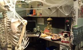 office halloween decor. Office Halloween Decorations Scary. Amusing Decor Glass Window Design Ideas With Cubicle Also S