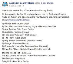 Australian Country Radio Charts Chance At Love 4 On The Amrap Regional Charts