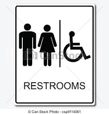 Restroom sign illustration Enchanting Bathroom Sign Vector