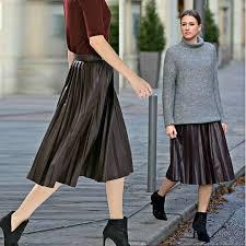zara woman bnwt dark burdy faux leather pleated midi skirt fine pleats 2969 255