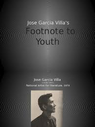 Footnote To Youth Poetry Fiction Literature