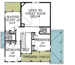 Beach House Plan   Two Story Great Room   FL   st Floor    Floor Plan