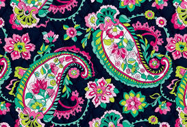 Petal Paisley This print marries traditional paisleys and blooms