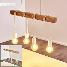 Lampen Hänge Pendel Retro Holz Wohn Verstellbar Leuchten