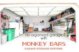 monkey bars garage storage. An Organized Garage Using The Monkey Bars Storage Systems At TidyMom.net G