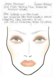 Sephora Face Chart Mac Cosmetics N Collection Face Charts From Fashion Week