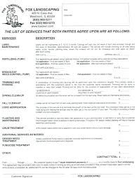 Cover Letter Forms Landscaping Contract Cover Letter Landscaping