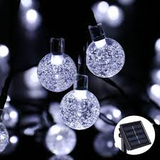 Solar Powered String Lights Outdoor Globe Christmas Light 19 7ft