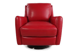 Chair Design Ideas, Red Leather Swivel Chair Puffy Comfortable Leather  Armchair With Seatback And Silver