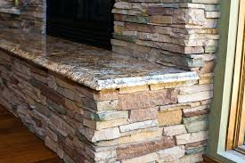 stacked stone fireplace mantel ideas outside