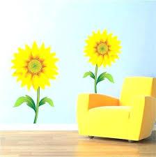 exotic sunflower wall decor medium size of metal art mural decal wallpaper sticker outdoor w