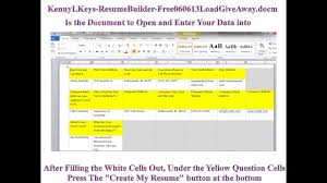 Microsoft Word Vba Creates Resume And Cover Letter Generator