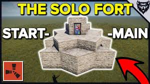 Rust Clan Base Design 2019 Rust The Solo Fort Solo Rust Bunker Base Design 2019