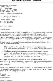 Nurse Practitioner Cover Letter Sample Printable And Interesting