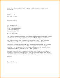 letter for internship in a company ledger paper sample letter of internship letter of inquiry for