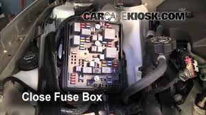replace a fuse chevrolet impala chevrolet impala 6 replace cover secure the cover and test component