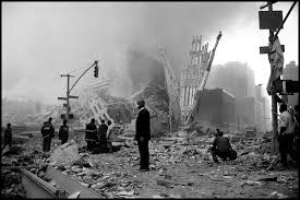 photo essay from to ground zero a church minister stands amid the wreckage of new york s world trade center