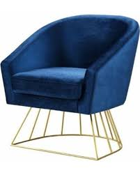 velvet accent chair. Rainier Velvet Accent Chair, Navy And Gold Chair