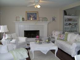 shabby chic living room furniture. Shabby Chic Style Living Room White Furniture Fireplace .