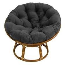 Wicker papasan chair Outdoor Image Is Loading Papasanchairsuedecushionpatiofamilyrelaxfurniture Ebay Papasan Chair Suede Cushion Patio Family Relax Furniture Rattan
