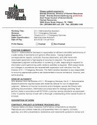 Executive Assistant Resume Bullet Points Beautiful Medical Fice