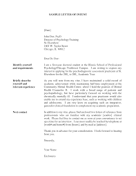 Job Posting Letter Of Intent Letter Of Intent For Internal Job