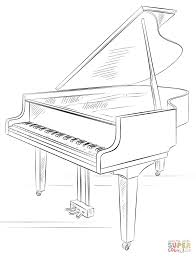 Small Picture Grand Piano coloring page Free Printable Coloring Pages