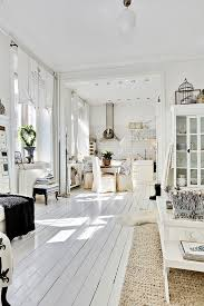 love love love this white painted wood floor white