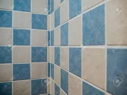 Dekorative Fliesen In Weiß Und Blau Badezimmer Geometrische Design