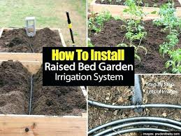 garden watering system how to install a raised bed irrigation pertaining small made easy for plants