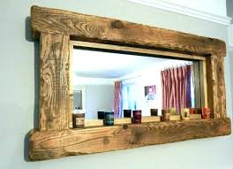 wood framed bathroom mirrors. Wood Framed Bathroom Mirrors Mirror Frame Floor Distressed Wooden .