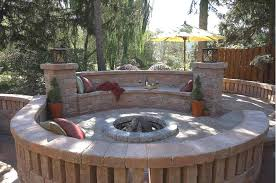 Patio Design Ideas With Fire Pits patio ideas with fire pit rectangle patio design with circle fire pit area mypatiodesigncom perfect deck