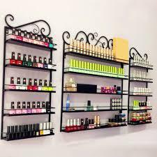 5 Tier Metal Nail Polish Display Organizer Wall Rack Holder Over 200 Bottles