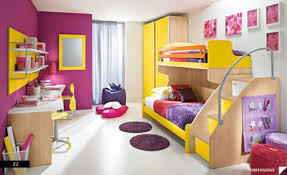 bedroom ideas for teenage girls pink and yellow. Sweet Yellow Wooden Bun Bed Decoration For Teen Girl Bedroom Ideas Combined With Round Purple Fur Rug And Wardrobe Cabinet Teenage Girls Pink S