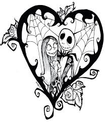 Nightmare Before Christmas Jack Skellington Coloring Pages Free