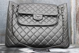 Chanel 13B Charcoal Grey Quilted Leather Large Shopping Tote & Chanel 13B Charcoal Grey Quilted Leather Large Shopping Tote. Hover to zoom Adamdwight.com