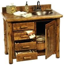 barrel sink bathroom rustic vanity with pine vanities brown marble tiles floor wine native trails