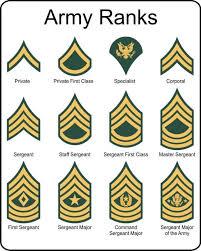 Military U S Army Rank Insignia Metal Sign Army Ranks
