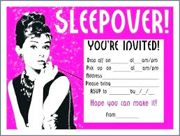 Slumber Party Invitation Templates Free Zoli Koze