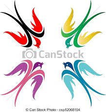 colorful birds flying clipart. Exellent Flying Birds  Csp12068104 With Colorful Birds Flying Clipart