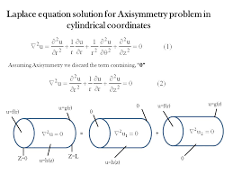 laplace equation solution for axisymmetry problem in cylindrical coordinates