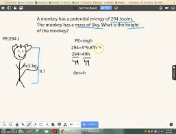how to find height using the potential energy equation