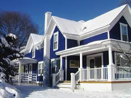Magnificent Duplex House With Blue Exterior Paint Idea With Some - Best paint for home exterior