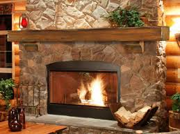 Natural Stone Fireplace Interior Rock Fireplace Mantel Intended For Staggering Cool